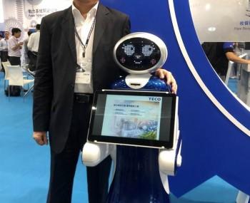 东元今首度展出收餐盘及导览等服务型机器人