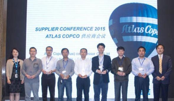 东元电机受阿特拉斯.科普柯压缩机认可获唯一优秀电机供应商奖