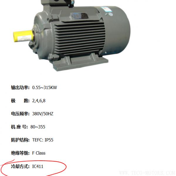 电机的冷却方式及代码说明 电机知识 第2张