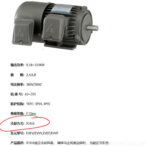 电机的冷却方式及代码说明 电机知识 第3张