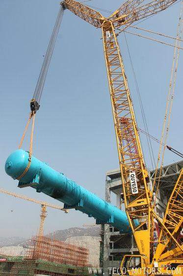 【电厂】田湾核电5号机组除氧器吊装就位 行业资讯