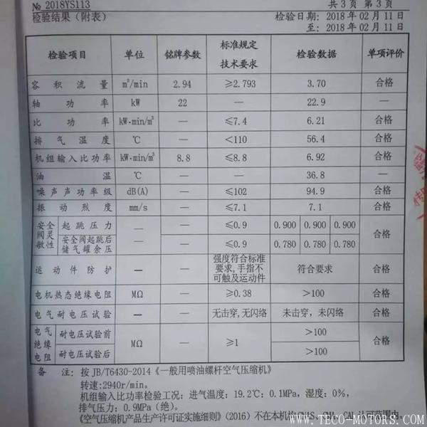 【压缩机】广东艾林克部分空压机产品通过一级能效认证 行业资讯 第3张