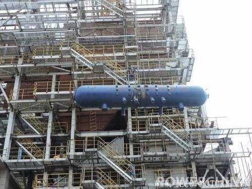 【电厂】德阳垃圾电站项目2号锅炉汽包吊装就位 行业资讯