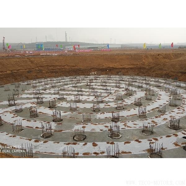 【电厂】神华国华锦界2×660MW煤电一体化电厂项目烟囱基础垫层浇筑完成 行业资讯