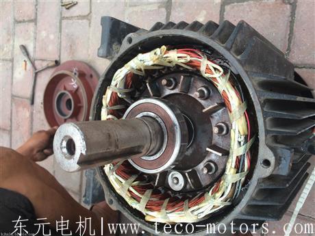 东元变频电机与通俗电机维修时的区别