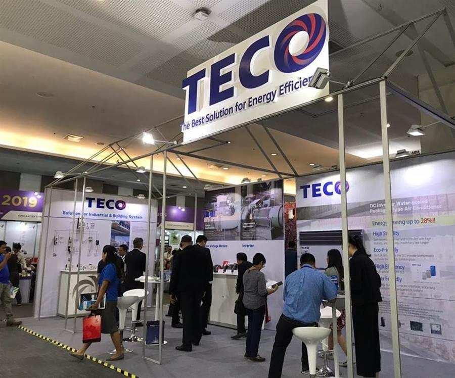 东元电机参加贸协主办2019菲律宾台湾形象展,主打高效节能解决方案和动力传动系统关键零组件,让更多当地厂商了解东元的品牌价值。图/东元电机提供