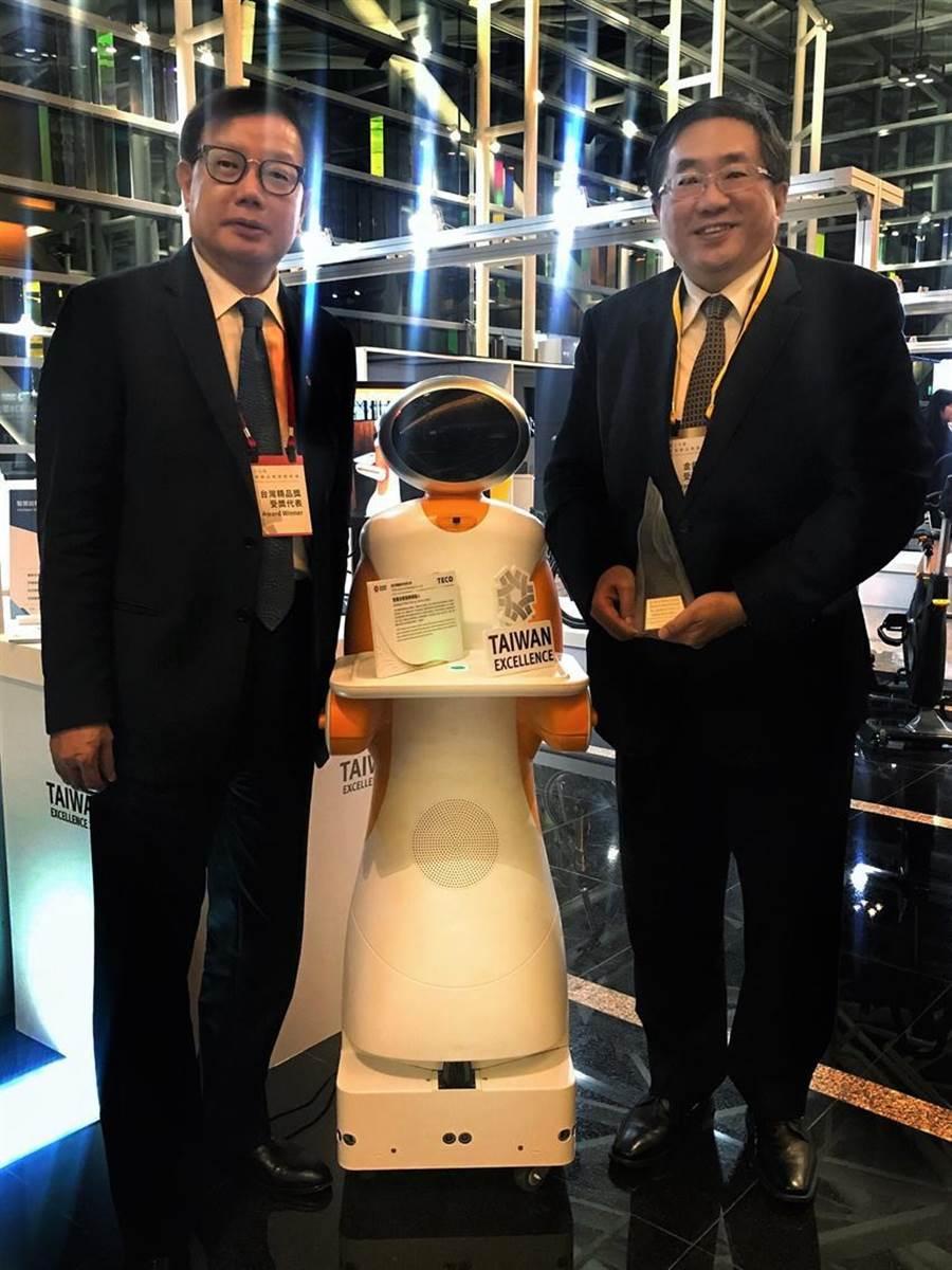 东元智慧送餐服务机器人 获台湾精品奖银质奖