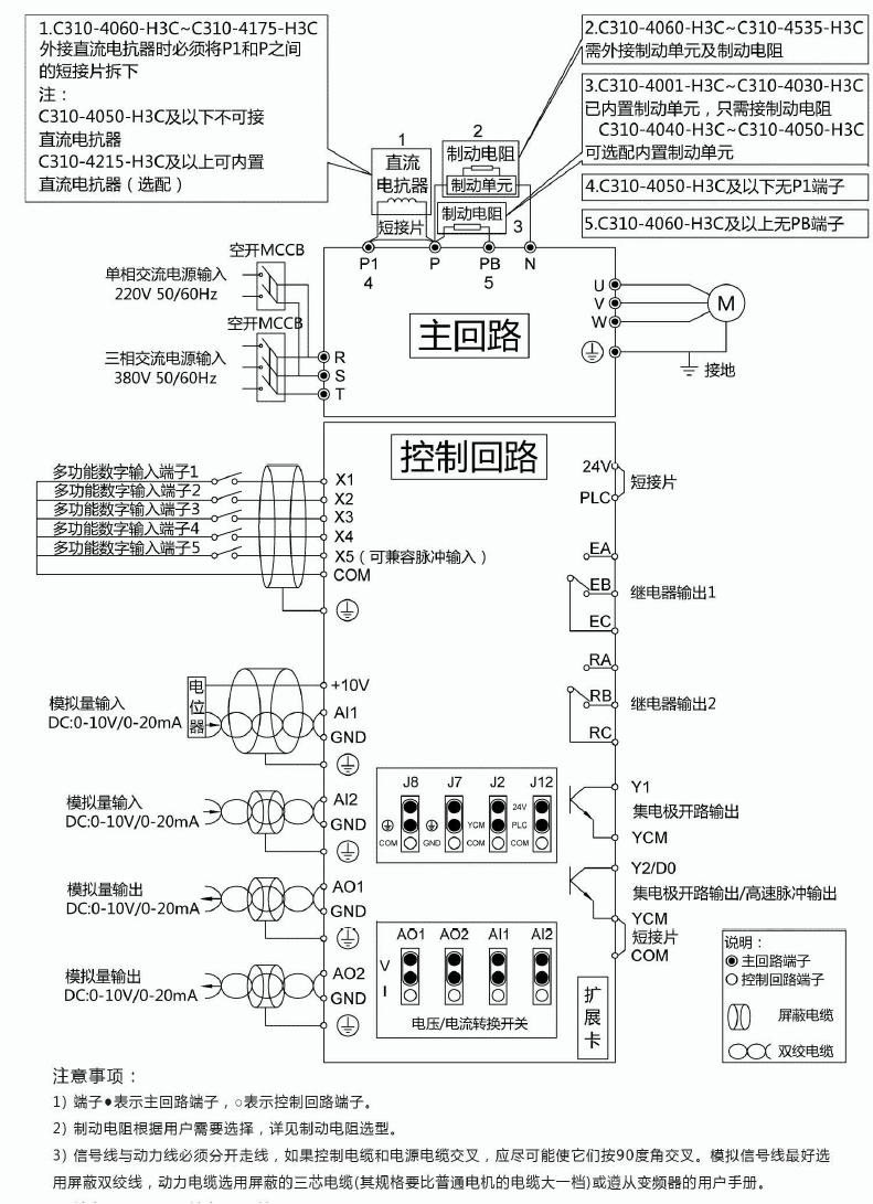 C310变频器接线图